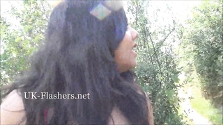 Chubby indian amateur Kikis public masturbation and exotic outdoor flashing Thumb