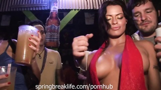 Flashing Pussy and Tits in a Club Thumb