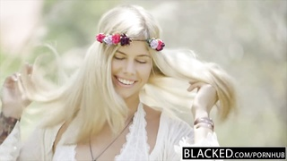 BLACKED Blonde Fashion Model Addison Belgium Squirts on Huge Black Dick! Thumb