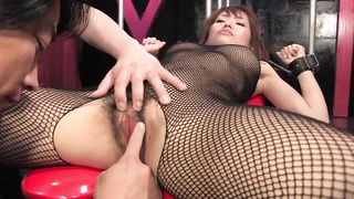 Busty brunette gets her hairy slit fingered and clit teased Thumb