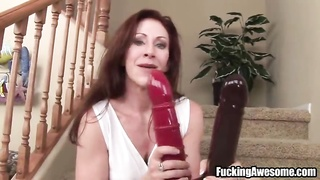 Catherine De Sade Fucks Her Holes With Large Toys Thumb