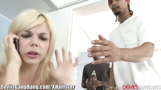 Anal Creampie and 3 Black Cocks for Eager Blonde Thumb