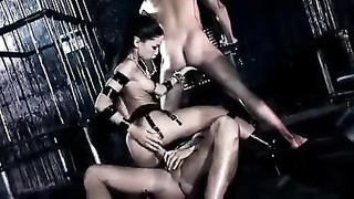 Raven Haired Mistress - DP Threesome Thumb