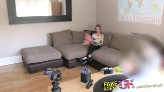 FakeAgentUK Naughty petite Brit has hot sex on casting couch Thumb