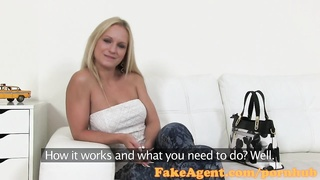 FakeAgent Blonde with amazing natural tits fucks for a job Thumb