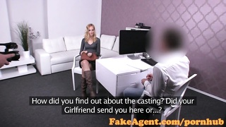 FakeAgent Hot blonde likes it rough in casting Thumb