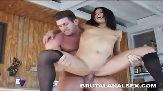 Petite asian Jayna Oso brutal analed and facialed Thumb
