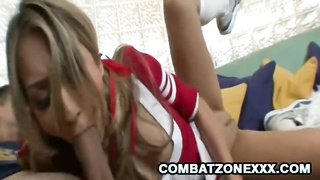 Horny Cheerleader Natalia Rossi slap a hard dick at her face Thumb