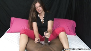 Oily Footjob for a Twelve Inch Black Dravidian Dick by American Brunette Thumb