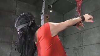 BDSM VJ Tied Up Blindfold Deep Throat Fuck Thumb