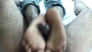 Footjob- Sexxxy Indian feet & soles with cumshot Thumb