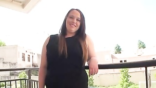 French chubby Inessa shakes her boobs Thumb