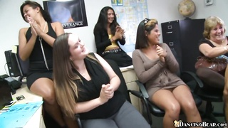 Office ladies sucking cock in their business skirts Thumb