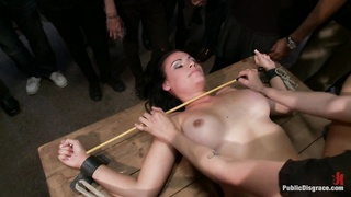 Bruntte babe gets humiliated in public Thumb