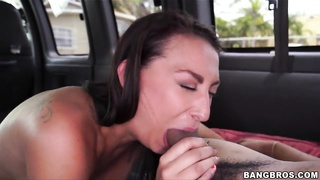 Lunch lady gets fucked on the BangBus Thumb