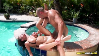 Young Erin Stone gets banged by the pool Thumb