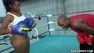 The awesome brutal ebony couple: Ms. Juicy and her lover boxer Thumb