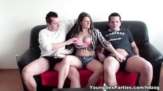 Double-fucking home sex party Thumb