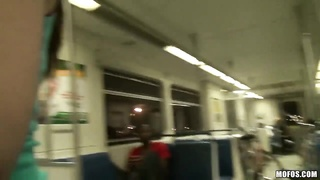 Crazy hot and hungry for dicks chicks flirting with everyone in the train and in public Thumb