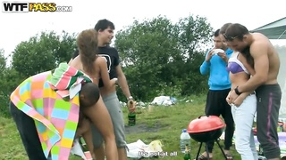 Picnic fun turns in hardcore outdoor orgy! Thumb