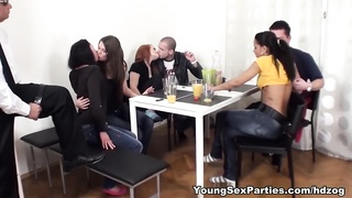 Sex party with older spectator Thumb