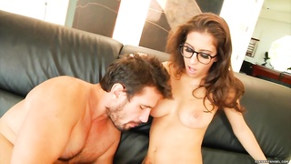 April ONeil bounces her hot pussy on this hard shaft Thumb