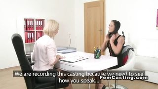 First lesbo experience in casting Thumb