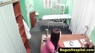 Real spycam amateur licked out by her doctor Thumb