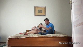 Beautiful blonde girlfriend gets anal with bf Thumb