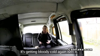 British blonde deep throats huge dick in cab taxi reality Thumb