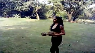 Sexy Desi Indian Girl Excercise - Boob Show Thumb