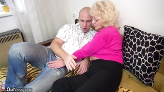 OldNanny old and young strapon pumping and masturbating Thumb