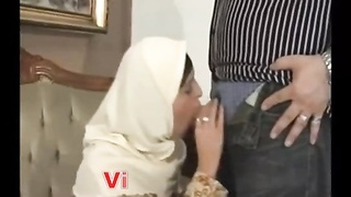 Sex XXX - Arab Wife cheating Husband - Hijab Hot Muslim Blowjob - One more Slut Thumb
