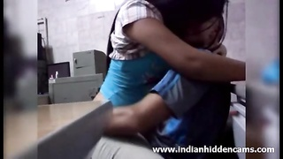 Indian men fucking his sexy hot desi amateur gf secretly in workplace Thumb
