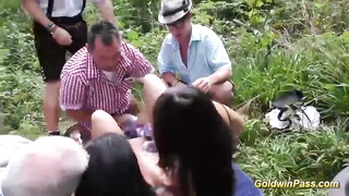 outdoor lederhosen groupsex orgy Thumb