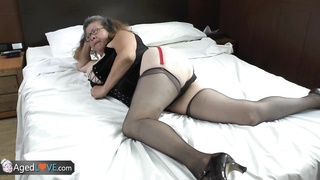 Agedlove fat granny got fucked doggystyle Thumb