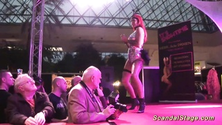 public lapdance with busty redhead Thumb