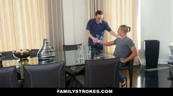 FamilyStrokes - Busty Aunt Seduces step-Nephew Staying Over Thumb