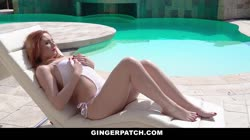 GingerPatch - Hot Ginger Gets Pussy Filled Poolside Thumb