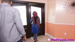 Timid Arabian Teenager Foreign Student Fucks Cock For First Time Thumb