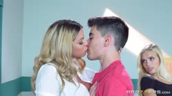 Teacher has threesome with two lucky students - Brazzers Thumb