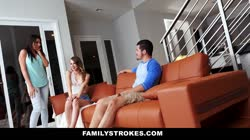 FamilyStrokes - Making My Hot StepCousin Squirt Thumb