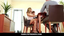 FamilyStrokes - Hot Teen Flashes Pussy For Pervy Uncle Thumb
