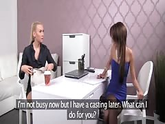 FemaleAgent. Blonde sexy boss teaches agent the art of seduction Thumb