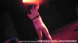 strip masturbation show on stage at strip club Thumb