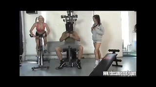 Best Possible blond hooker is vag got banged by personal trainer after lesbian workout Thumb
