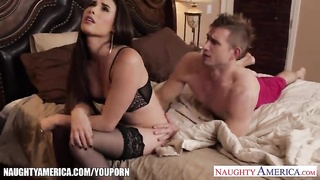 Stockinged house wife Casey Calvert humping Thumb