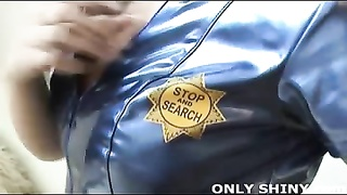 Glossy PVC Police Officer Rebecca Thumb