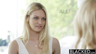 BLACKED Blond Best Friends Forever Cadence Lux and Alli Rae Share a giant BB Thumb