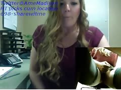 Amy cum on her desk Thumb